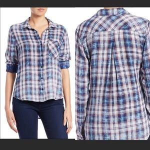 Anthro Cloth & Stone plaid button down shirt